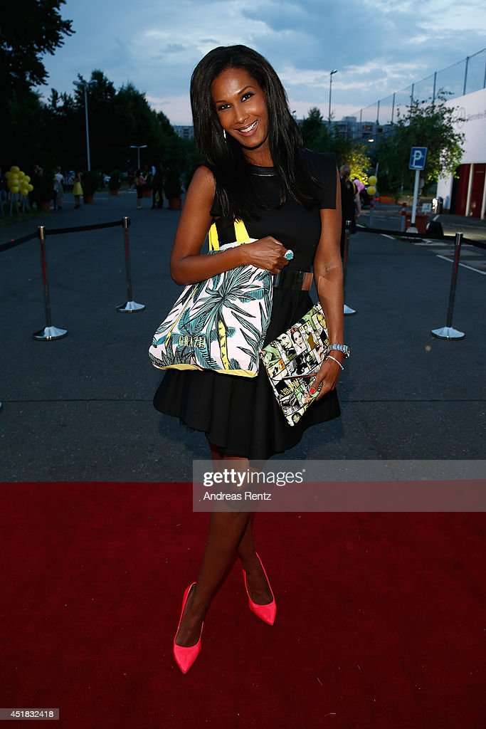 Marie Amiere arrives for the Opening Night by Grazia fashion show during the Mercedes-Benz Fashion Week Spring/Summer 2015 at Erika Hess Eisstadion on July 7, 2014 in Berlin, Germany.