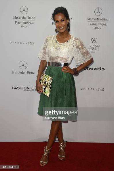 Marie Amiere attends the Guido Maria Kretschmer show during the MercedesBenz Fashion Week Spring/Summer 2015 at Erika Hess Eisstadion on July 9 2014...