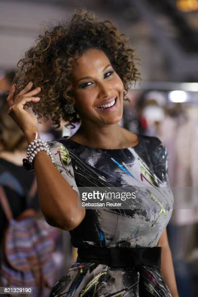 Marie Amiere is seen backstage ahead of the Thomas Rath show during Platform Fashion July 2017 at Areal Boehler on July 23 2017 in Duesseldorf Germany