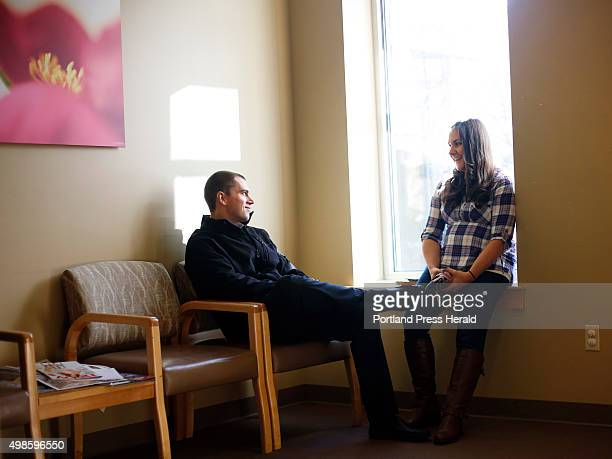 Marie and Dave Gilligan of Westbrook wait for their ultrasound appointment at Coastal Women's Health Care where they found out their baby will be a...