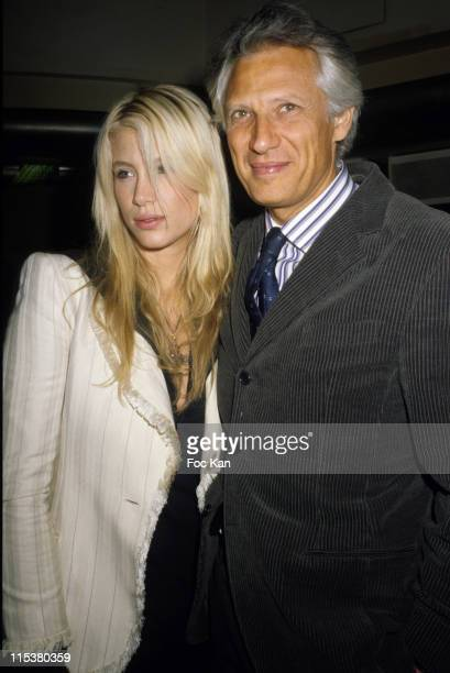Marie and Dominique de Villepin during Cellboost Fast Loading Mobile Battery Launch Party at VIP Room Club in Paris France