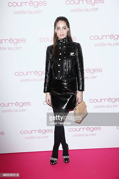 Marie Ange Casta attends Courreges and Estee Lauder Dinner Party during Paris Fashion Week Womenswear Fall/Winter 2015/2016 on March 7 2015 in Paris...