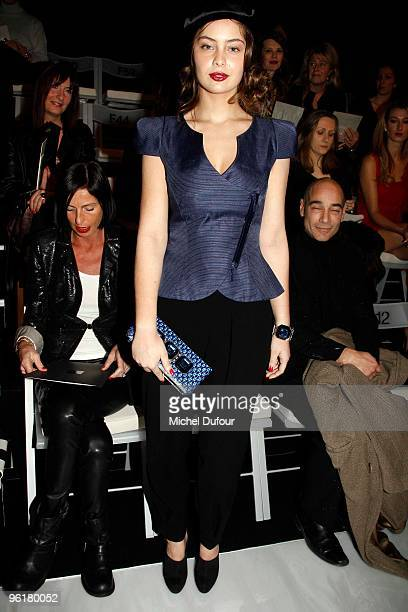 Marie Ange Casta attends Giorgio Armani Prive Fashion Show during Paris Fashion Week Haute Couture S/S2010 at Palais de Chaillot on January 25 2010...