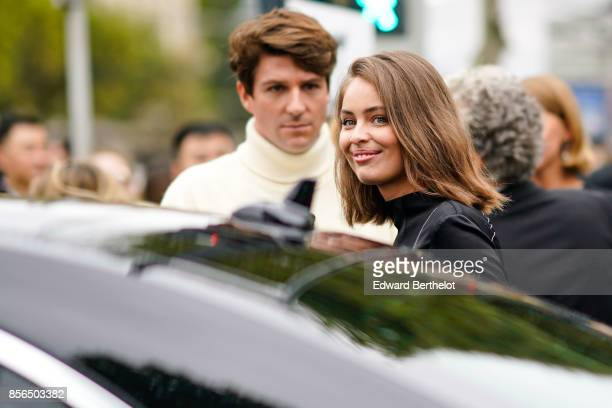 Marie Ange Casta attends Le Defile L'Oreal Paris as part of Paris Fashion Week Womenswear Spring/Summer 2018 at Avenue Des Champs Elysees on October...