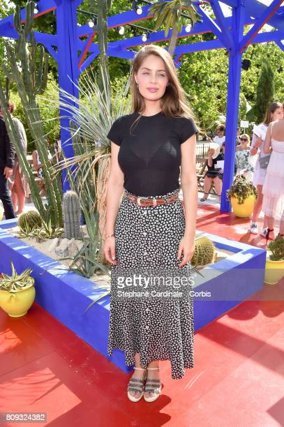 Marie Ange Casta attends the Bonpoint Haute Couture Fall/Winter 20172018 show as part of Haute Couture Paris Fashion Week on July 5 2017 in Paris...