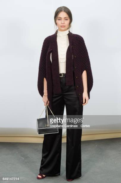 Marie Ange Casta attends the Chanel show as part of the Paris Fashion Week Womenswear Fall/Winter 2017/2018 on March 7 2017 in Paris France