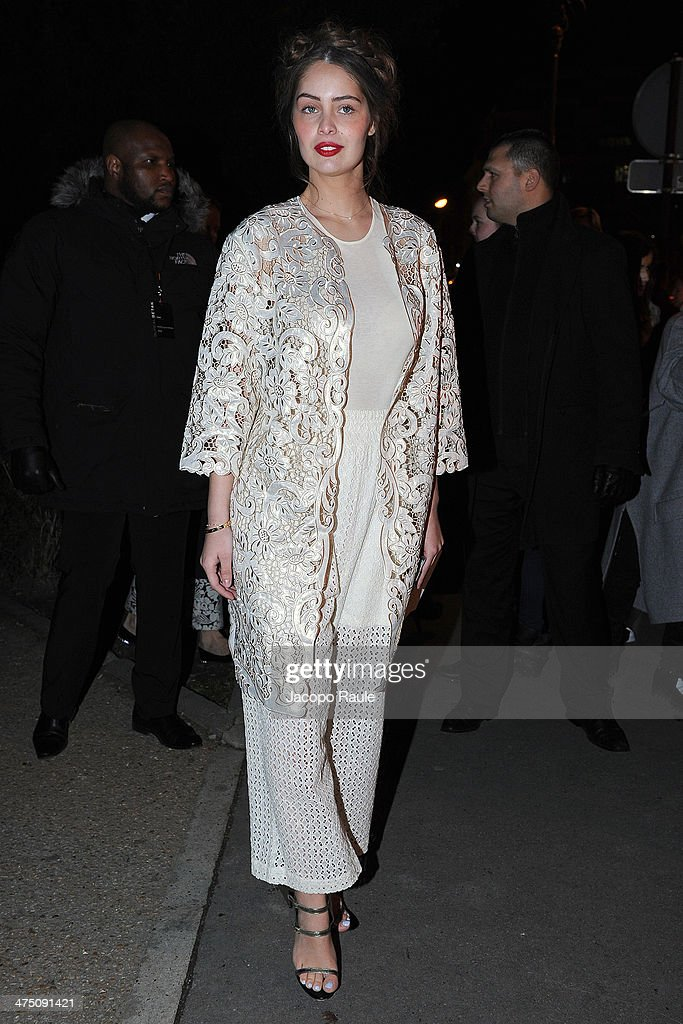 Marie Ange Casta attends the H&M show as part of the Paris Fashion Week Womenswear Fall/Winter 2014-2015 on February 26, 2014 in Paris, France.