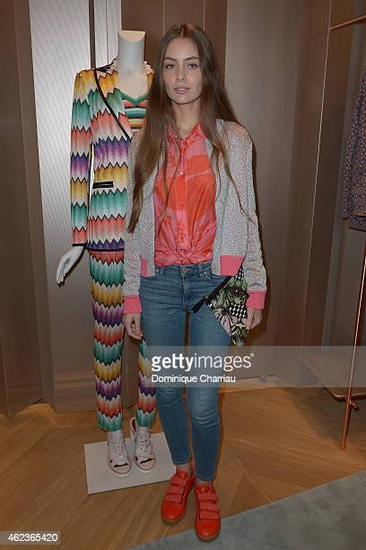 Marie Ange Casta attends the Missoni opening store at 219 Rue Saint Honore during the Paris Fashion Week Haute Couture Spring/Summer 2015 on January...