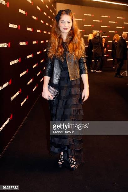 Marie Ange Casta attends the Sonia Rykiel HM Underwear Collection Launch Party at Grand Palais on December 1 2009 in Paris France