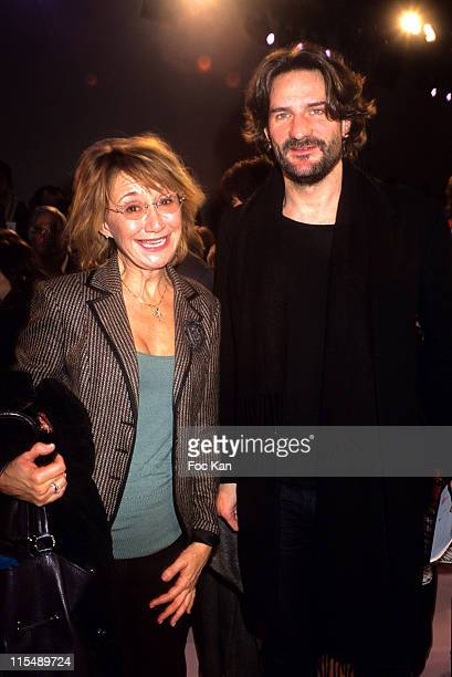 Marie Anne Chazel and Frederic Beigbeder during Paris Fashion Week Haute Couture Spring/Summer 2007 Christian Lacroix Front Row at Palais de Tokyo in...