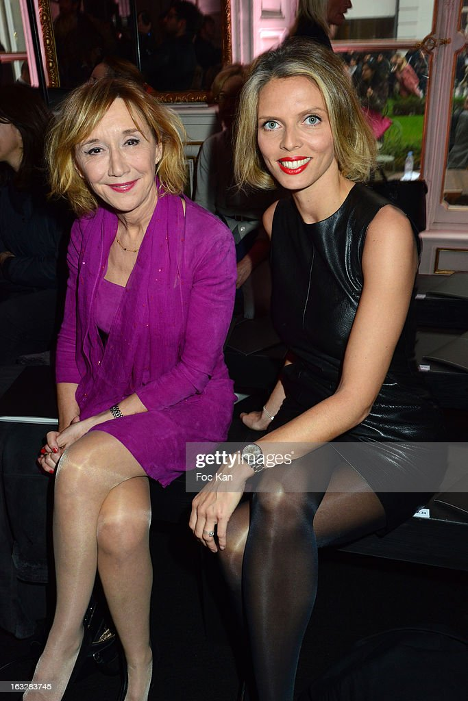Marie Anne Chazeland Sylvie Tellier attend the Jitrois - Front Row - PFW F/W 2013 at Hotel Saint James & Albany on March 6, 2013 in Paris, France.