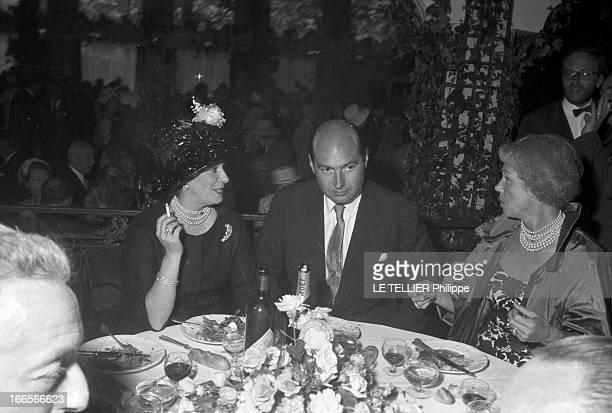 Marie Anne Michelin Marries Amaury De Broglie France le 9 juin 1960 Marie Anne MICHELIN fille de l'industriel épouse Amaury DE BROGLIE trois convives...
