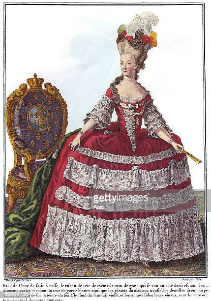 Marie Antoinette french queen here in a fashion engraving c 1780