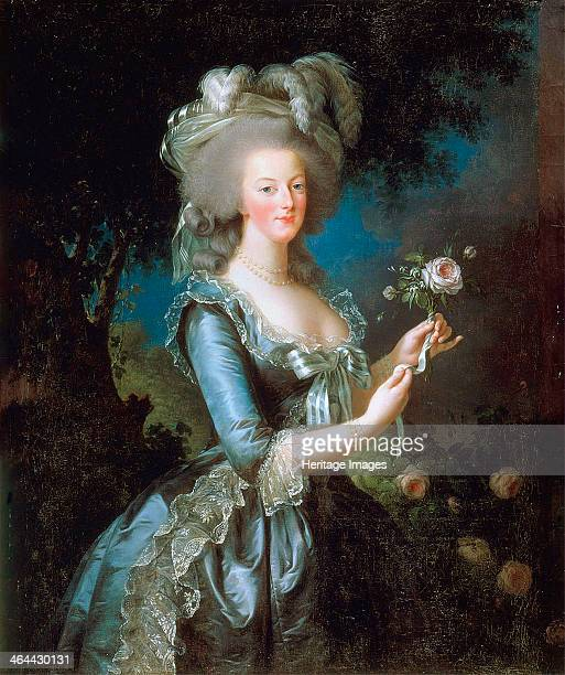 Marie Antoinette à la Rose' 1783 VigéeLebrun Marie Louise Elisabeth Found in the collection of the Musée National du Château de Versailles et du...
