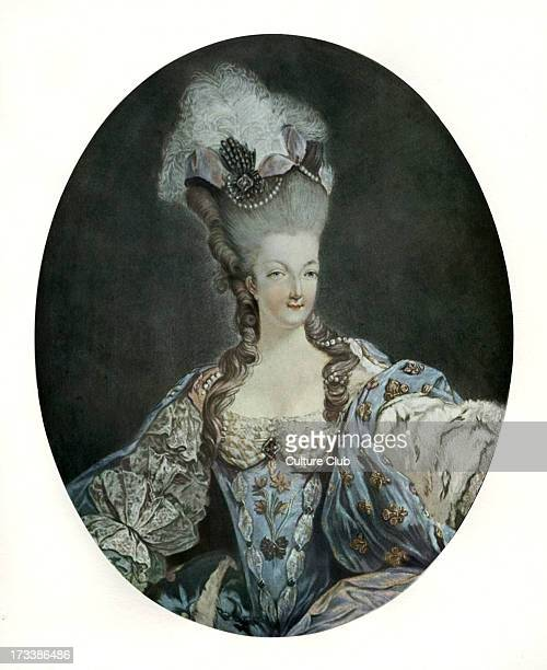 Marie Antoinette Queen of France after engraving by Francois Janinet Married Louis XVI in 1770 and became Queen of France at his accession to the...