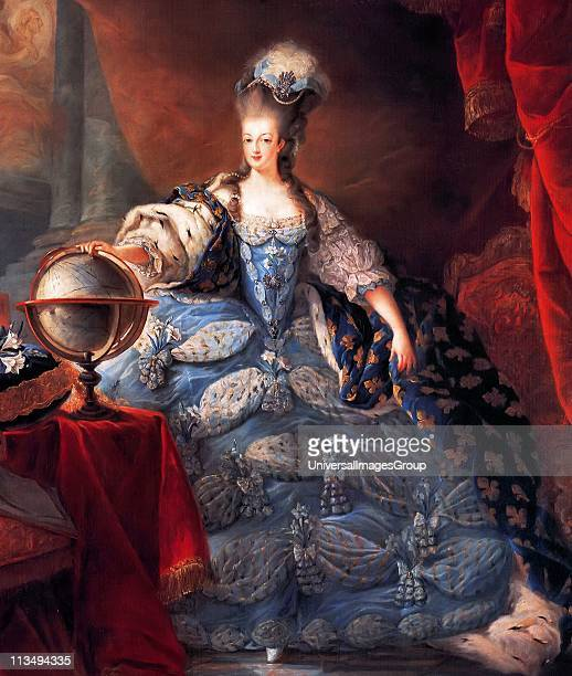 Marie Antoinette Queen of France in coronation robes by JeanBaptiste Gautier Dagoty 1775 Maria Antoinette 1755 1793