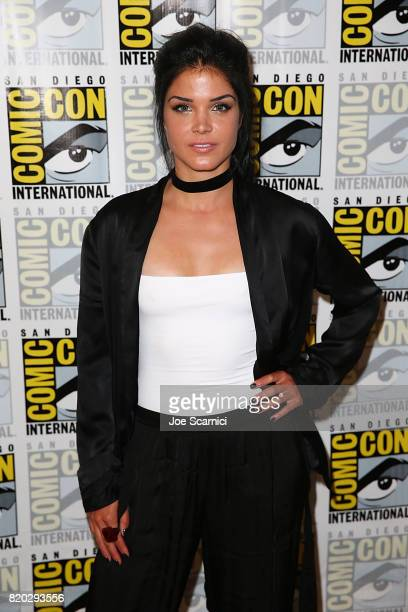 Marie Avgeropoulos attends 'The 100' press line at ComicCon International 2017 on July 21 2017 in San Diego California