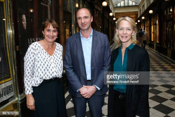 Marie Boue CEO Flammarion Gilles Haeri and Suzanne Isore attend Barbara de Nicolay signs her Book 'L'Esprit du Chateau de Lude' with the Eric...