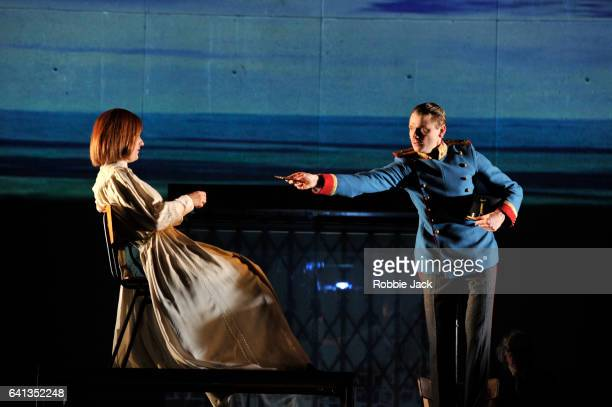 Marie Burchard and Laurenz Laufenberg in Complicite and Schaubuhne Berlin's production of Stefan Zweig's Beware of Pity directed by Simon McBurney at...