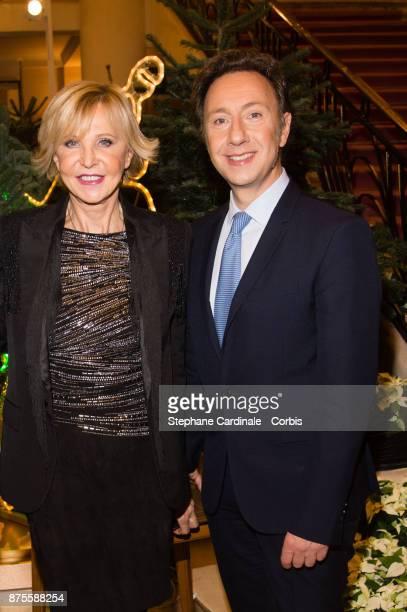 Marie Christiane Marek and Stephane Bern attend the 22th Edition Of 'Les Sapins De Noel Des Createurs Designer's Christmas Trees on November 17 2017...