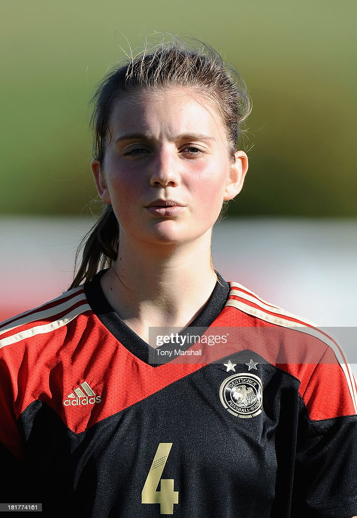 Marie Christin Becker of Germany during the Women's International Friendly match between England Under 19 Women and Germany Under 19 Women at St George's Park on September 22, 2013 in Burton upon Trent, England.