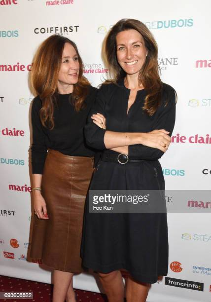 Marie Claire Communication director Chupa Renie and TV presenter Anne Claire Coudray attend 'La Flamme Marie Claire 2017 Toutes A L'Ecole' Children...
