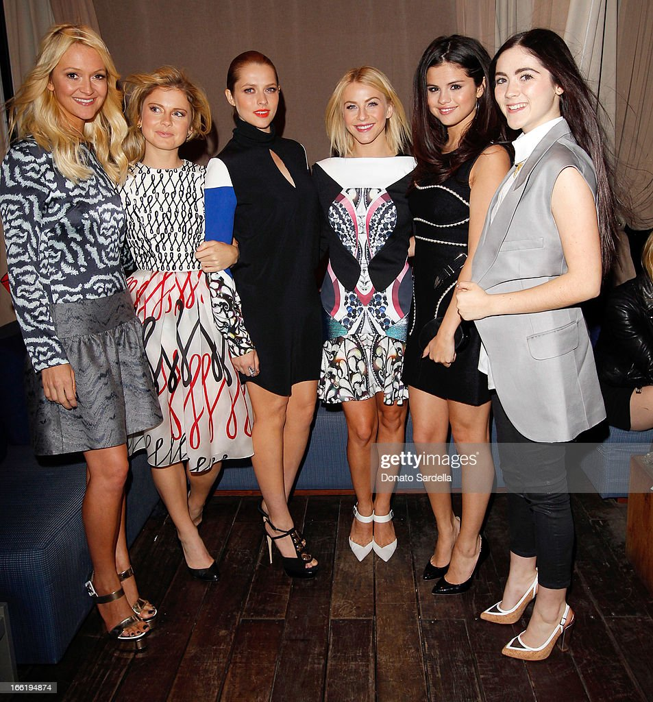 Marie Claire Editor Zanna Roberts Rassi, actresses Rose McIver, <a gi-track='captionPersonalityLinkClicked' href=/galleries/search?phrase=Teresa+Palmer&family=editorial&specificpeople=612319 ng-click='$event.stopPropagation()'>Teresa Palmer</a>, <a gi-track='captionPersonalityLinkClicked' href=/galleries/search?phrase=Julianne+Hough&family=editorial&specificpeople=4237560 ng-click='$event.stopPropagation()'>Julianne Hough</a>, singer <a gi-track='captionPersonalityLinkClicked' href=/galleries/search?phrase=Selena+Gomez&family=editorial&specificpeople=4295969 ng-click='$event.stopPropagation()'>Selena Gomez</a> and actress <a gi-track='captionPersonalityLinkClicked' href=/galleries/search?phrase=Isabelle+Fuhrman&family=editorial&specificpeople=4117599 ng-click='$event.stopPropagation()'>Isabelle Fuhrman</a> attend the British Fashion Council LONDON Show ROOMS LA AW13 Opening Party at Thompson Hotel on April 9, 2013 in Beverly Hills, California.