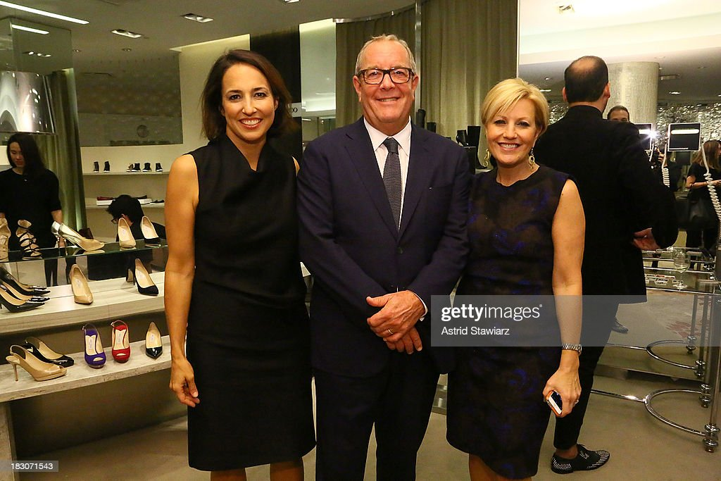 Marie Claire editor-in-chief <a gi-track='captionPersonalityLinkClicked' href=/galleries/search?phrase=Anne+Fulenwider&family=editorial&specificpeople=9477353 ng-click='$event.stopPropagation()'>Anne Fulenwider</a>, President and Chief Merchandising Officer for Saks Fifth Avenue, Ronald L. Frasch and VP/ Publisher for Marie Claire, Nancy Berger Cardone attend Marie Claire's Shoes First Shopping Event At Saks Fifth Avenue on October 3, 2013 in New York City.