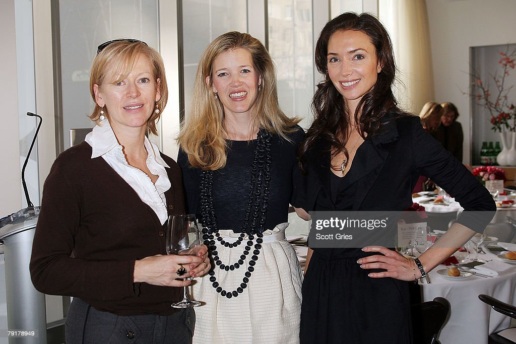 Marie Claire editor-in-chief Joanna Cole, designer Lela Rose, and Olivia Chantecaille attend The Tiffany & Co. Foundation's 'Too Precious To Wear' launch to raise awareness of threatened marine animals at MoMA on January 23, 2008 in New York City.