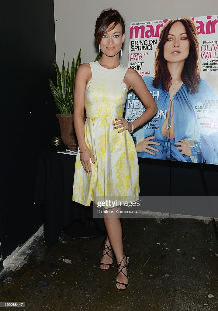 Marie Claire Honors <a gi-track='captionPersonalityLinkClicked' href=/galleries/search?phrase=Olivia+Wilde&family=editorial&specificpeople=235399 ng-click='$event.stopPropagation()'>Olivia Wilde</a> And Her April Cover on April 8, 2013 in New York City.