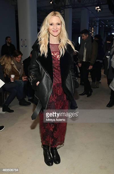 Marie Claire senior fashion editor Zana Roberts Rossi attends Public School runway show during MADE Fashion Week Fall 2015 at Studio 330 on February...