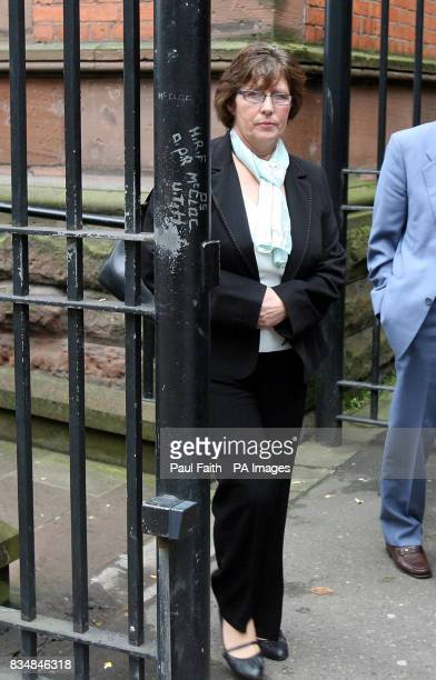 Marie Conway partner of Kelvin Adams leaves the coroners court in Belfast after an inquest into his death which occurred while he was paragliding and...