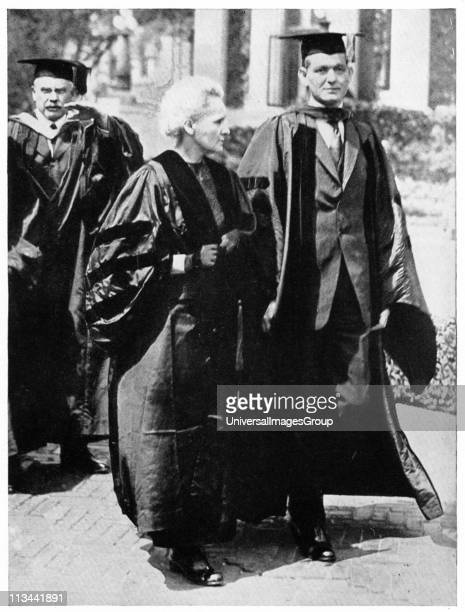 Marie CURIE Polishborn French physicist during her tour of the United States in 1921 with Dean Pegram of the School of Engineering Columbia University