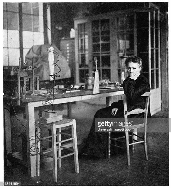 Marie Curie Polishborn French physicist in her laboratory in 1912 the year after she received here second Nobel prize this time for chemistry