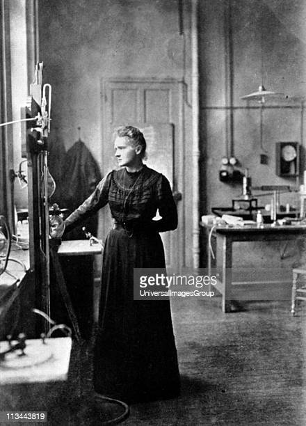 Marie Curie Polishborn French physicist in her laboratory the year after she was awarded her second Nobel prize Awarded Nobel prize for physics in...