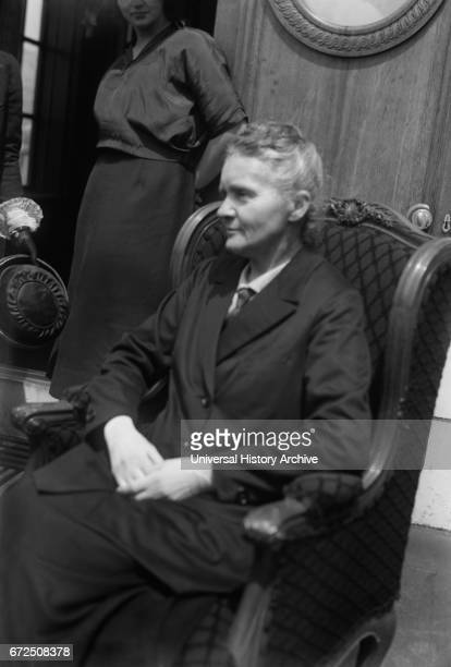 Marie Curie PolishBorn French Physicist Portrait during Trip to USA to Raise Funds for Radium Research Bain News Service 1921