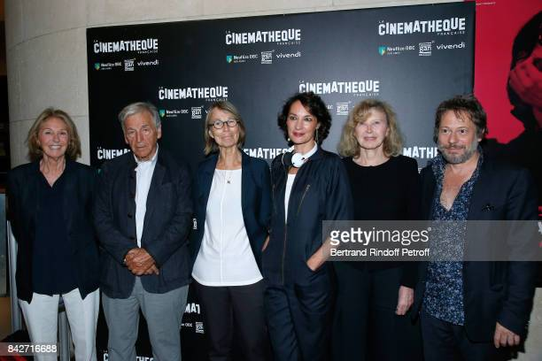 Marie Dabadie President of Cinematheque Francaise Constantin CostaGavras Minister of Culture Francoise Nyssen actresses of the movie Jeanne Balibar...