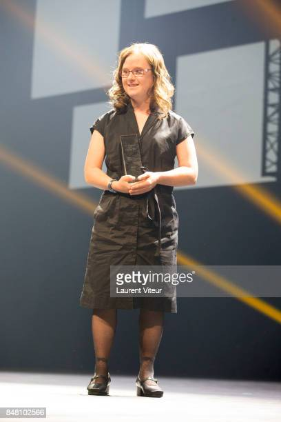Marie Dal Zotto receives ADAMI Best Actress award for 'Mention Particuliere' during Closing Ceremony of 19th Festival of TV Fiction at La Rochelle on...