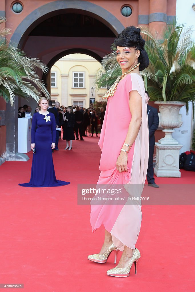 Marie Daulne, singer of the band Zap Mama, attends the AIDS Solidarity Gala at Hofburg Vienna on May 16, 2015 in Vienna, Austria.