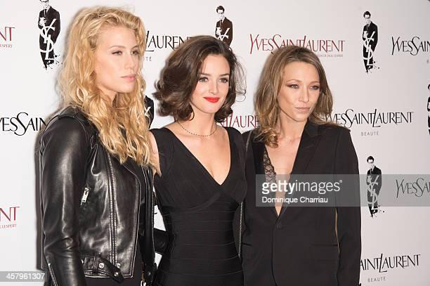 Marie de Villepin Charlotte Le Bon and Laura Smet attend the 'Yves Saint Laurent' Paris Premiere at Cinema UGC Normandie on December 19 2013 in Paris...