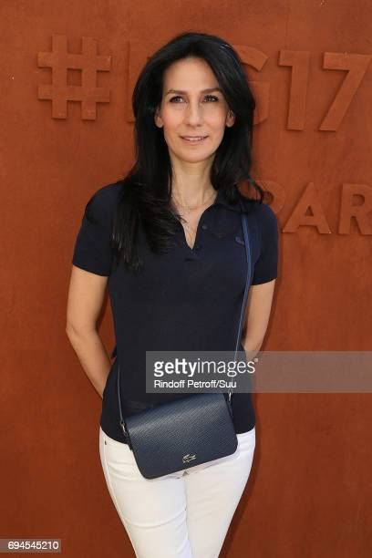 Marie Drucker is spotted at Roland Garros on June 10 2017 in Paris France