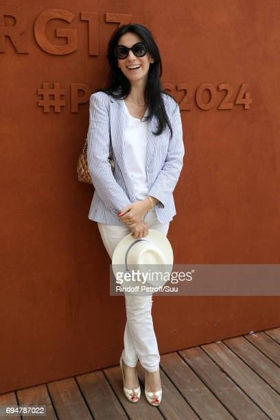 Marie Drucker is spotted at Roland Garros on June 11 2017 in Paris France