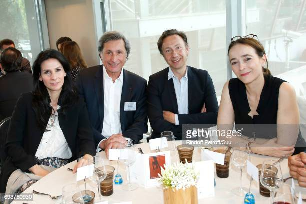 Marie Drucker Patrick de Carolis Stephane Bern and President of France Television Delphine Ernotte attend the 'France Television' Lunch during the...