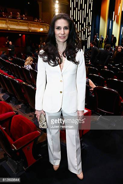 Marie Drucker poses during The Cesar Film Award 2016 at Theatre du Chatelet on February 26 2016 in Paris France
