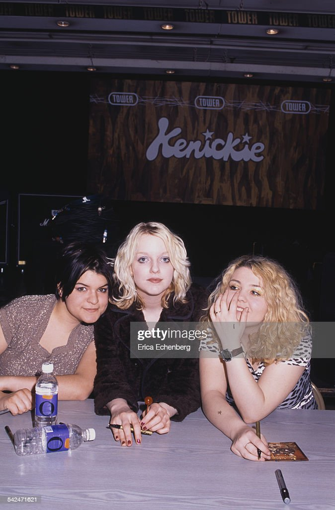 Marie du Santiago Lauren Laverne EmmyKate Montrose of Kenickie debut album launch Tower Records London United Kingdom May 1997