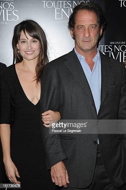 Marie Gillain and Vincent Lindon attend the Paris Premiere of 'Toutes Nos Envies' on November 7 2011 in Paris France