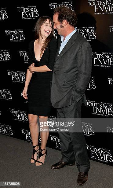 Marie Gillain and Vincent Lindon attend the 'Toutes Nos Envies' Premiere at cinema Normandy on November 7 2011 in Paris France