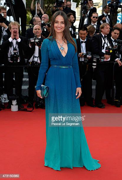 Marie Gillain attends the opening ceremony and premiere of 'La Tete Haute' during the 68th annual Cannes Film Festival on May 13 2015 in Cannes France
