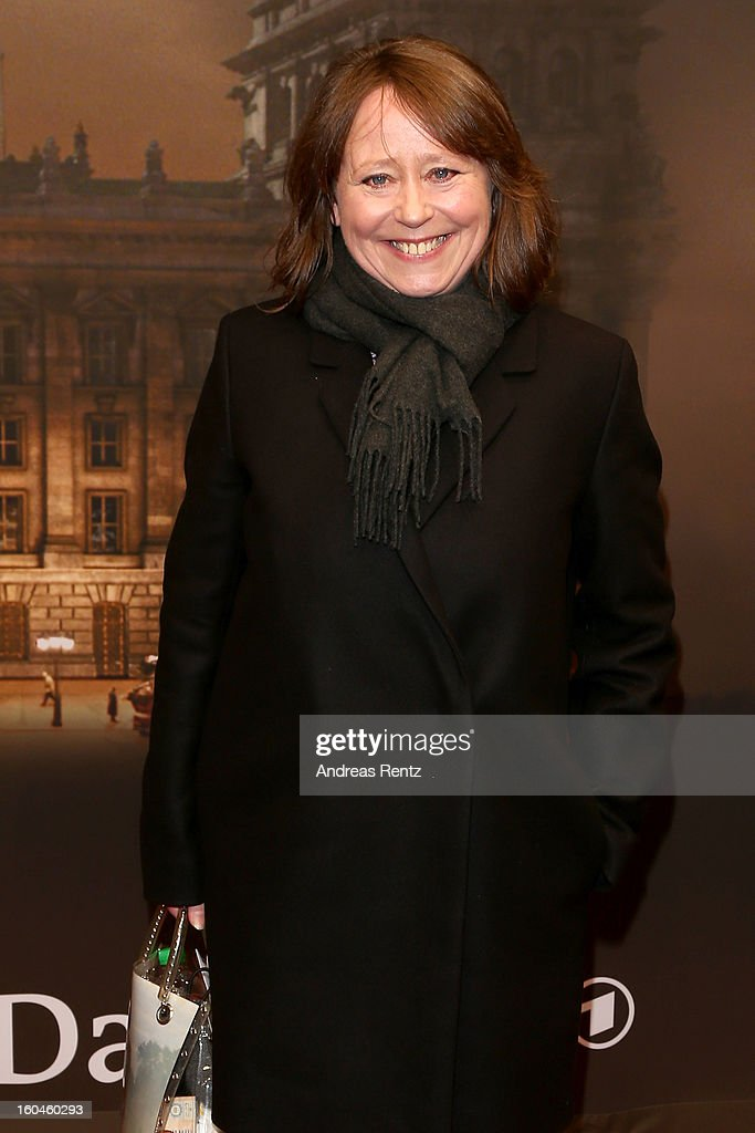 Marie Gruber attends 'Nacht Ueber Berlin' Preview at Astor Film Lounge on January 31, 2013 in Berlin, Germany.