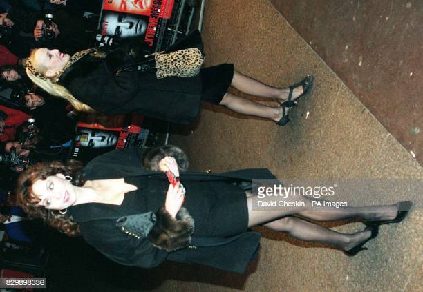 Marie Helvin and Jerry Hall arriving at the Odeon Leicester Square this evening for the UK Premier of Extreme Measures produced by Elizabeth Hurley...